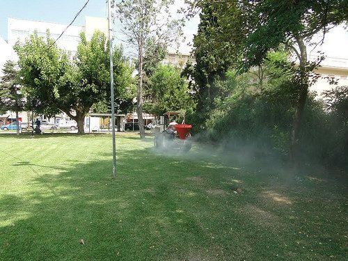 Εφαρμογή Ζεόλιθου στο χλοοτάπητα του γηπέδου Μαΐστρου και στο Πάρκο Εθνικής Ανεξαρτησίας 1
